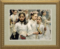 After the First Holy Communion (Detail 3 Girls)