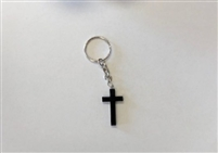 Wooden Cross Key Chain