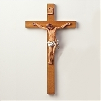 "Fontanini Crucifix 22.5"" H Polymer Corpus on Wood Cross"