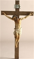 "Joseph Studio Crucifix Renaissance Collection 13.25"" H Resin/Stone Mix"