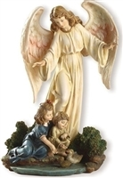 8.5 INCH GUARDIAN ANGEL WITH CHILDREN