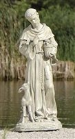 "18"" ST. FRANCIS WITH FAWN GARDEN STATUE"