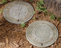 "11"" CELTIC CROSS STEPPING STONES"
