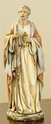 10.5 INCH ST. PETER WITH KEYS STATUE