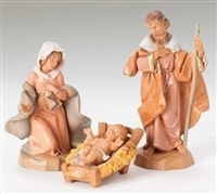 3-PIECE SET, 5 INCH HOLY FAMILY, BOXED