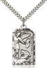 5720SS/24S <br/>Sterling Silver St. Michael the Archangel Pendant