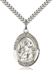 St. Gabriel the Archangel Medal<br/>7039 Oval, Sterling Silver
