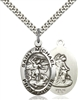 4027SS/24S <br/>Sterling Silver St. Michael the Archangel Pendant