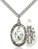 4025SS/24S <br/>Sterling Silver Miraculous Pendant