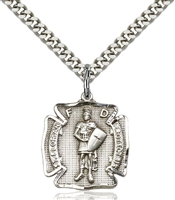 0070SS/24S <br/>Sterling Silver St. Florian Pendant
