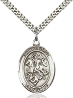 St. George Medal<br/>7040 Oval, Sterling Silver