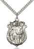 5694SS/24S <br/>Sterling Silver St. Michael the Archangel Pendant