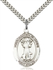 St. Francis of Assisi Medal<br/>7036 Oval, Sterling Silver