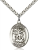St. Michael the Archangel Medal<br/>7076 Oval, Sterling Silver