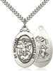 4145RSS/24S <br/>Sterling Silver St. Michael the Archangel Pendant