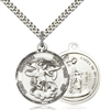 0342SS/24S <br/>Sterling Silver St. Michael the Archangel Pendant