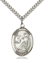 St. Luke the Apostle Medal<br/>7068 Oval, Sterling Silver
