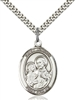 St. Joseph Medal<br/>7058 Oval, Sterling Silver