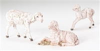 3 PIECE SET 5 INCH SHEEP FAMILY FIGURE FONTANINI