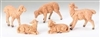 5 PIECE SET 5 INCH SHEEP NATIVITY FIGURES FONTANINI