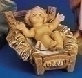 5 INCH INFANT NATIVITY FIGURE WITH MANGER FONTANINI