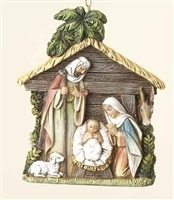 "4"" HOLY FAMILY STABLE ORNAMENT"