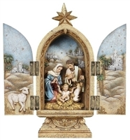 "10"" HOLY FAMILY TRIPTYCH FIGURE"