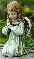 "12"" KNEELING ANGEL STATUE"