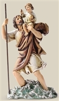 "6.25"" ST. CHRISTOPHER STATUE, 6 INCH SCALE"