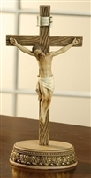"8.5"" 2-PIECE STANDING CRUCIFIX WITH STAND"