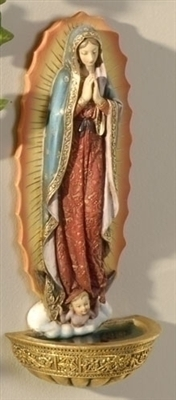 "7.5"" OUR LADY OF GUADALUPE FONT"