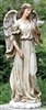 "24.5"" ANGEL WITH DOVE GARDEN STATUE"