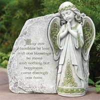 9.75 IRISH  ANGEL GARDEN STONE