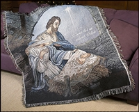 Nativity Throw