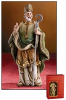 "St. Patrick Statue, 4"" H, Resin"