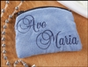 Ave Maria Embroidered Rosary Case