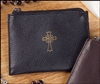 Black Leather Rosary Case