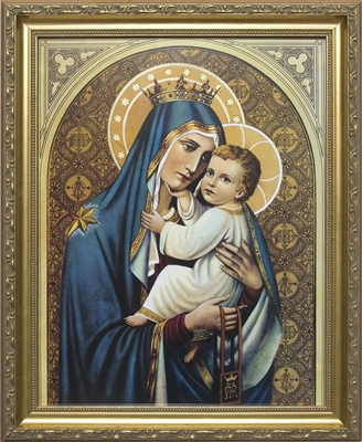 "Our Lady of Mt. Carmel Framed Image, 8"" X 10"""
