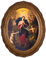 "Mary Undoer of Knots Canvas in Oval Framed, 8"" X 10"""