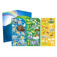Noah's Ark Sticker Set with fold-out scene