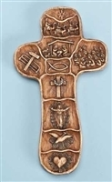 "5"" CHRIST'S STORY HAND CROSS WITH STORY BOX DISPLAY"
