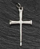 "1"" STERLING SILVER CROSS PENDANT, BRUSH FINISH, 18"" CHAIN, INCLUDES VELVET BOX"