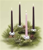 "14"" ADVENT WREATH PINE WREATH W/O CANDLES"