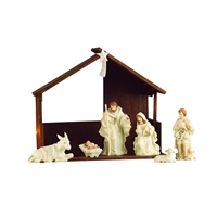 BELLEEK LIVING NATIVITY SET/ SCENE