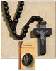 Black Franciscan Wood Rosary