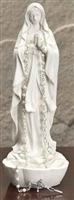 "8"" WHT MADONNA ROSARY HOLDER"