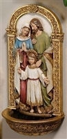 "7.75"" HOLY FAMILY WATER FONTJOSEPHS STUDIO"