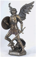 St. Michael the Archangel, Cold-Cast Bronze, 12.75""