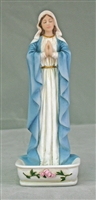 Praying Virgin Rosary Holder, fully hand-painted, 6.25""