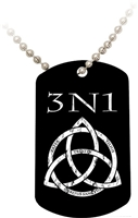 3N1 Black Dog Tag